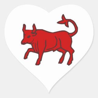 Red Bull do lado Adesivo Coração