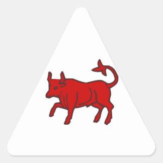 Red Bull do lado Adesivo Triangular