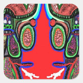 RED BULL na NUVEM NOVE: Desenhos animados do Adesivo Quadrado