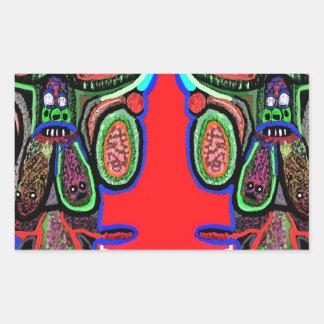 RED BULL na NUVEM NOVE: Desenhos animados do Adesivo Retangular