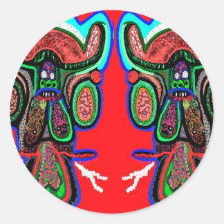 RED BULL na NUVEM NOVE Desenhos animados do Adesivos Em Formato Redondos