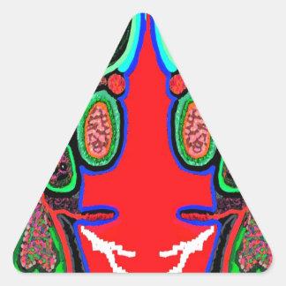 RED BULL na NUVEM NOVE Desenhos animados do Adesivos Em Forma De Triângulo