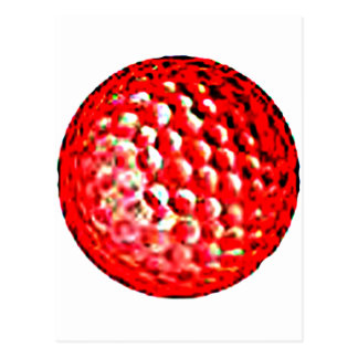Red Golf Ball1 jGibney The MUSEUM Zazzle Gifts Postcards