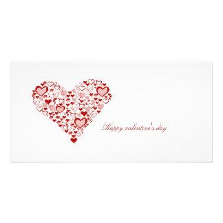 red heart, cartões com foto personalizados