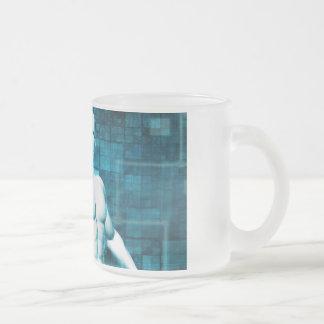 Rede e protecção de dados da segurança caneca de café vidro jateado