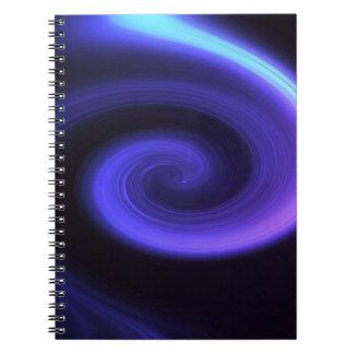 Redemoinho abstrato cadernos espiral