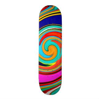 Redemoinho abstrato colorido vibrante de pastéis d skates