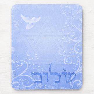 Redemoinho azul Mousepad da pomba de Shalom