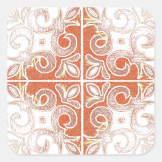 Redemoinho branco alaranjado inspirado pelo adesivos quadrados