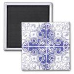 Redemoinho branco azul inspirado pelo português Az Imãs