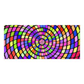 Redemoinho colorido das formas 10.16 x 22.86cm panfleto