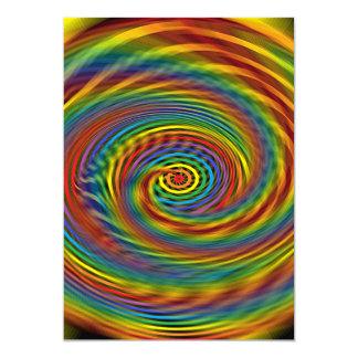 Redemoinho cósmico convite 12.7 x 17.78cm