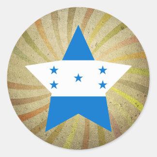 Redemoinho da bandeira do Honduran do vintage Adesivo