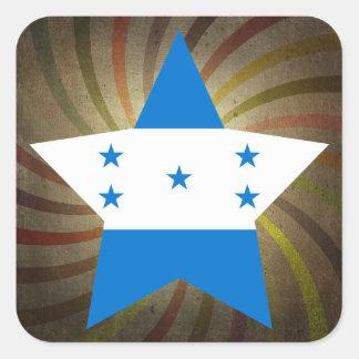 Redemoinho da bandeira do Honduran do vintage Adesivo Quadrado