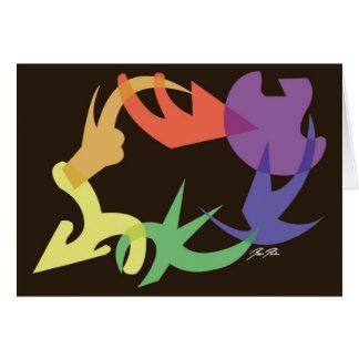 Redemoinho da imagem do arco-íris: Cartão de nota