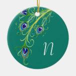 Redemoinho das penas do pavão do estilo de Nouveau Enfeites Para Arvore De Natal