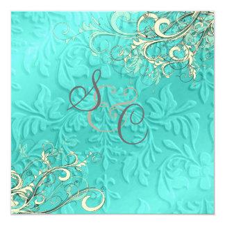 Redemoinho de creme azul, casamento ou… alguns convites personalizados