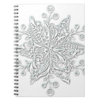 Redemoinho do floco de neve cadernos