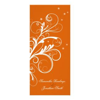 Redemoinho elegante floral branco alaranjado do pr 10.16 x 22.86cm panfleto