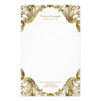 Redemoinho extravagante elegante do ouro papelaria