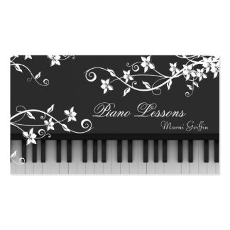 Redemoinho floral do cartão de visita das lições d