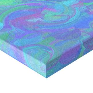 Redemoinho macio impressão de canvas envolvida