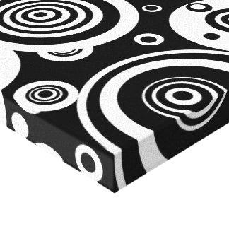 Redemoinho ótico impressão de canvas esticadas