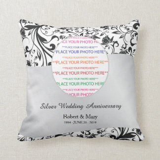 Redemoinho preto & aniversário de casamento da almofada