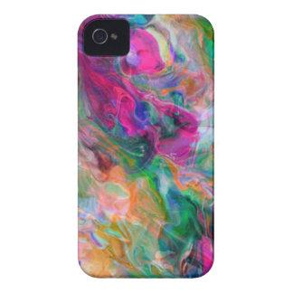 Redemoinho psicadélico da cor capas para iPhone 4 Case-Mate