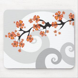 Redemoinho tropical Mousepad da fusão da flor