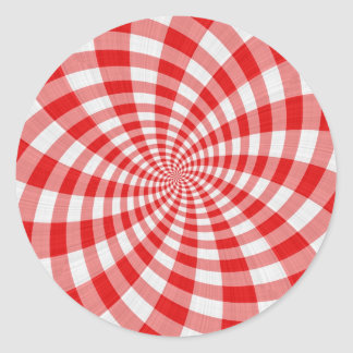 redemoinho vermelho de pano do tartan adesivos em formato redondos