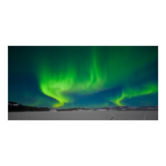 Redemoinhos da aurora boreal pôsteres