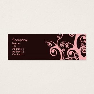 Redemoinhos do chocolate cartão de visitas mini