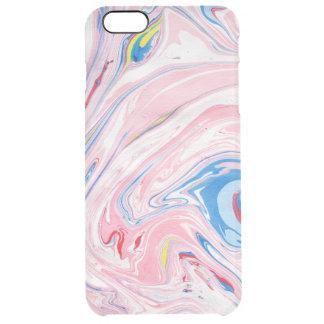 Redemoinhos do mármore da cor Pastel Capa Para iPhone 6 Plus Transparente