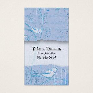 Redemoinhos do pássaro do cartão de visita da