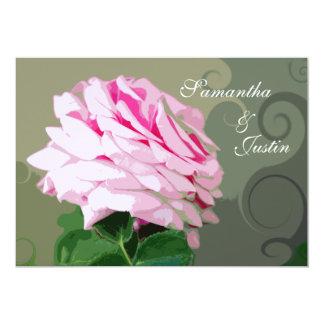 Redemoinhos do rosa do rosa que Wedding o convite