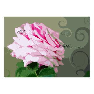 Redemoinhos do rosa do rosa que Wedding o ônibus Cartão De Visita Grande