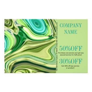 redemoinhos do verde limão do salão de beleza do panfletos personalizado