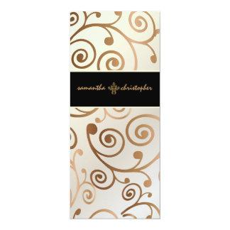 Redemoinhos dos cupcakes de PixDezines/cobre/ouro Convite 10.16 X 23.49cm