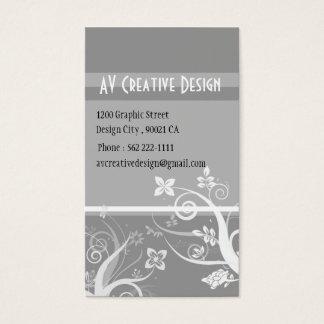 Redemoinhos elegantes - personalizados cartão de visitas