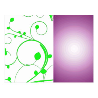 Redemoinhos esverdeados bonitos e textura roxa cartao postal