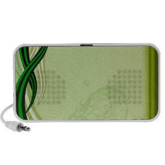 Redemoinhos esverdeados elegantes caixinhas de som para mp3
