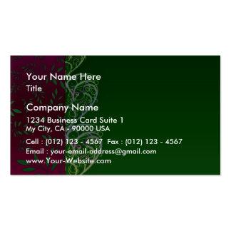 Redemoinhos esverdeados expressivos e folhas cartões de visita