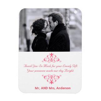 Redemoinhos feitos sob encomenda que Wedding o Foto Com Ímã Retangular