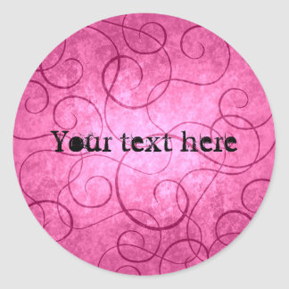 Redemoinhos femininos cor-de-rosa adesivo
