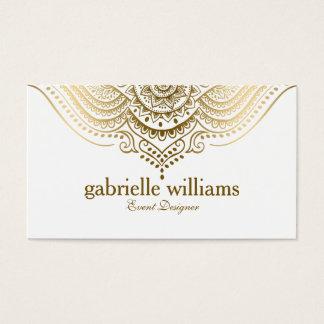 Redemoinhos geométricos do laço ornamentado cartão de visitas
