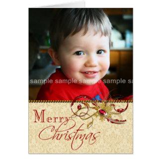 Redemoinhos Jeweled e cartão de Natal da foto do