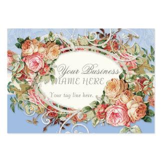 Redemoinhos modernos antigos do buquê floral dos cartão de visita grande