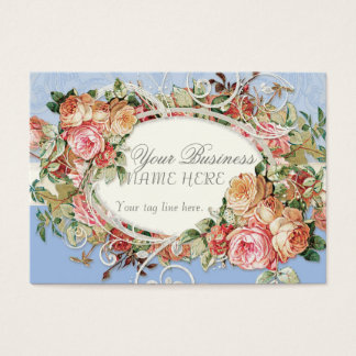 Redemoinhos modernos antigos do buquê floral dos cartão de visitas