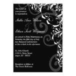 Redemoinhos preto e branco que Wedding o convite
